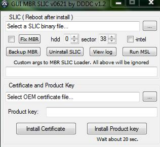 Активатор GUI MBR SLIC Loader 0 6 для Windows 7 - WindaKeys Ru